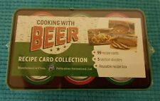 Cooking with Beer Recipe Card Collection in Tin Box