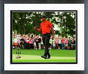 """Tiger Woods 2019 Masters Tournament Photo (Size: 12.5"""" x 15.5"""") Framed"""
