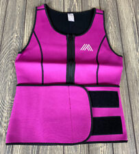 Aquiva Neoprene Sweat Suit Top For Weight Loss Size Medium Pink Hook And Loop
