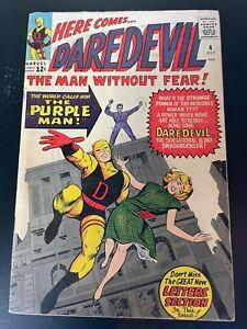 WOW! Daredevil 4 1st Purple Man Killgrave Silver Age Key Stan Lee