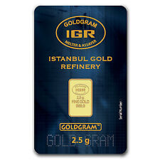 2.5 gram Gold Bar - Istanbul Gold Refinery (In Assay) - SKU #61581