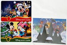 2 Disney Christmas Gift Cards 2013 Mickey, Minnie, & Pluto & limited card holder