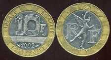 10 FRANCS  GENIE   1992
