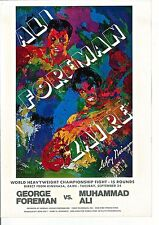LeRoy Neiman Poster Boxing Art III for Ali-Foreman Match Offset Lithograph 16x11