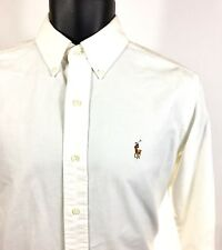 Ralph Lauren White Button Down Shirt Men's Size S Small Classic Fit Long Sleeve