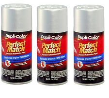 3 Cans-Duplicolor BFM0341  For Ford Code TS Silver Frost Aerosol Spray Paint