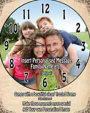 Family Clock Wall Personalised / Children / Family / Gift / Baby / Couple / Love