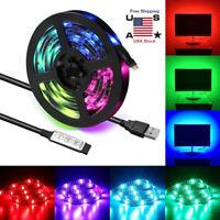 USB Powered 5V RGB LED Strip Light Remote Control For Bar TV Background Lighting