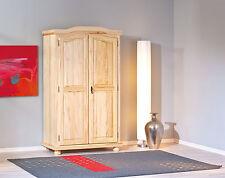 Armoire penderie dressing rangement chambre vintage 2 portes pin massif NATUREL