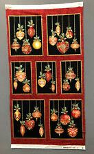 A Festive Season Christmas Ornaments Fabric Panel Benartex