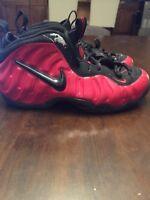 Nike Air Foamposite PRO 2002 Varsity Red, Black Size 8  624041-602