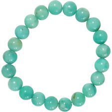 Amazonite Sea Blue Crystal 8mm Natural Gemstone Elastic Stretch Bead Bracelet