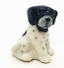 Bluetick Coonhound Dog Miniature Collection Ceramic Cute Figurine gift Handmade