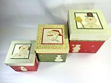 Snowman Nesting Boxes by Hallmark Set of 3