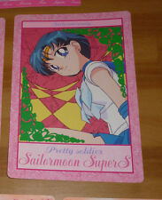 SAILOR MOON SUPER S JUMBO CARDDASS CARD CARTE SAILORMERCURY JAPAN 1995 ** #006