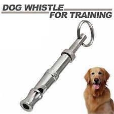 Sonido de alta frecuencia Perro silbato Ajustable Llavero Cachorro Entrenamiento Collie UK