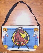 """Purse Handbag Wild Mustang Horse Cotton Canvas 13x19"""" Zips close"""