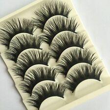 5Pairs  Thick Long Makeup Tool Eye Lashes Extension Cross False Fake Eyelashes