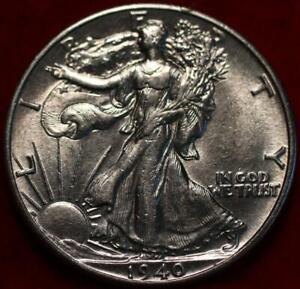 Uncirculated 1940 Philadelphia Mint Silver Walking Liberty Half