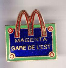 RARE PINS PIN'S .. MC DONALD'S RESTAURANT GARE EST MAGENTA PARIS 75 ~15