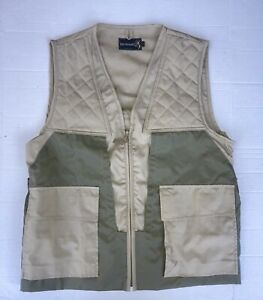 Vintage Browning Hunting Vest Made In USA Tan / Olive Green Size Medium (M)