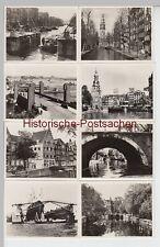 (F13857+) 20x Orig. Foto Amsterdam, offizielle Bilder aus Mäppchen 1954
