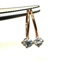 1/4CTW  Old Mine Cut Diamond 14K Rose Gold Russian Hallmarked Earrings