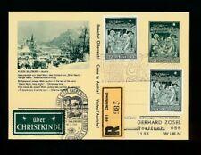 Reco-Christkindl-Bildpostkarte Salzburg 1.12.1968 + LZ Salzburg, (2)   (CH16)