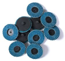 10PCS 2in Roloc Flap Sanding Discs Wheels 40 Grit Type R Threaded Twist Lock
