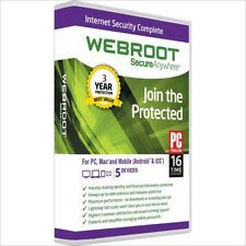 Webroot SecureAnywhere Internet Security Complete 2018 | 5-Devices, 3-Years