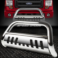 FOR 11-16 FORD EXPLORER U502 CUV CHROME BULL BAR PUSH BUMPER GRILLE GUARD+SKID
