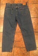 Mens Levis 550 Jeans 42x32 Straight Leg Relaxed Light Medium Blue Pants EUC!