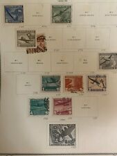 Chile, 1942 collection air post Stamps, complete and non-compl (3)