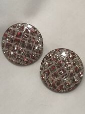 1950s LUCITE AND CONFETTIE CLIP EARRINGS