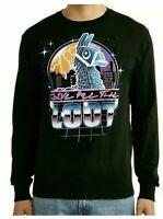 FORTNITE Give Me The Loot Llama Long Sleeve Graphic Print T-Shirt Men's XL 46/48