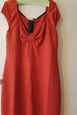 Lindy Bop Marina red Polka Dots Wiggle Pencil Dress Pin Up Rockabilly