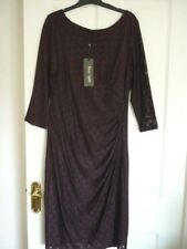 Phase Eight Heart Lace & Jersey Dress in Claret. UK 14 EUR 40-42 US 10.