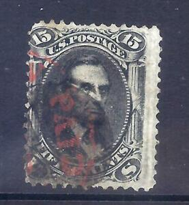 US Stamps - #98 - USED - 15 cent Lincoln Issue w/E Grill  - CV $395