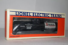 LIONEL O SCALE #6-6323 LCCA 1986 VIRGINIA CHEMICALS SINGLE DOME TANK CAR, LOT C
