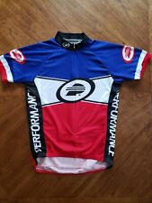 Performance Cycling Jersey Red, White, & Blue Medium + free garment bag included