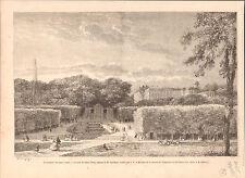 Le Parc du château de Saint-Cloud Tableau de C-F Daubigny GRAVURE OLD PRINT 1865
