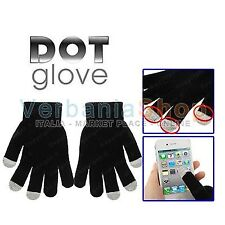 DOT GLOVES GUANTI CAPACITIVI PER TOUCH SCREEN IPHONE 4 4S 5 IPAD SAMSUNG GALAXY