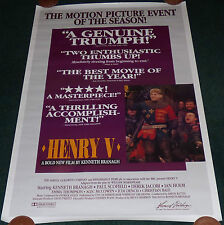 HENRY V 1989 ORIGINAL ROLLED REVIEW STYLE 1 SHEET MOVIE POSTER CHRISTIAN BALE
