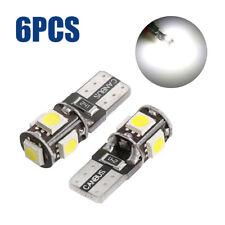 6pcs T10 White LED 194 168 5 SMD W5W Car Wedge Side Light Bulb Lamp DC 12V Set