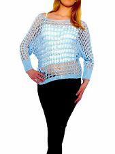 Markenlose hüftlange Damen-Pullover aus Baumwollmischung