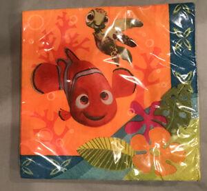 Finding Dory Nemo Party Cake Napkins 16PC Decoration Favors Ocean Kids Dessert *