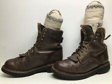 VTG MENS JUSTIN WORK BROWN BOOTS SIZE 10.5 EE