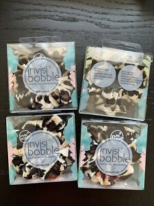4 * Invisibobble Sprunchie Spiral Hair Pony Tail Ring Scrunchies Purrfection NIB