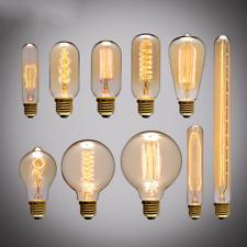 Retro E27 40W Edison Vintage Light Bulbs Filament Style Squirrel Cage Lights HOT