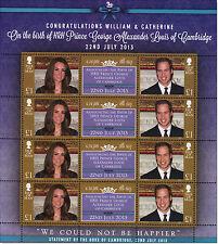 William und Kate, Königliches Baby, Prinz George - Kleinbogen, Insel Man ,945304